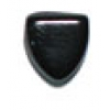 Glass Bead Triangle 9mm Black - Strung